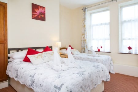 The Firs Bed and Breakfast Plymouth Bedrooms En-suite Family Room 2nd Floor