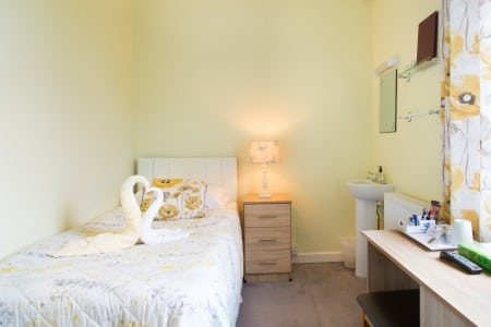 The Firs Bed and Breakfast Plymouth Standard Single Room with Shared Facilities 2nd Floor