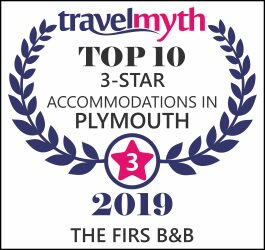 The Firs B&B Plymouth - accreditation - travelmyth_591362_plymouth_three_star_p8en_print